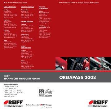 ORGAPASS 2008 - REIFF-Gruppe