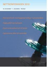 Program Nettkonferasen 2010. - Energi Norge