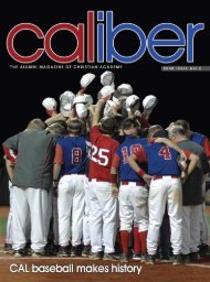 CALiber Summer 2008 - Christian Academy School System