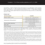 dodatok c14 k cenniku Prima 15.5.2009.indd - Orange Slovensko, as