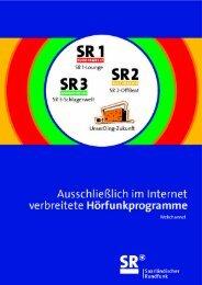 Webchannels [pdf-Dokument, 355 kb] - Saarländischer Rundfunk