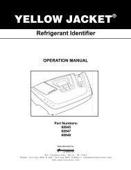 68945 Refrigerant Gas Analyzer Manual - Yellow Jacket