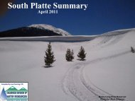 South Platte River Summary - Colorado Division of Water Resources