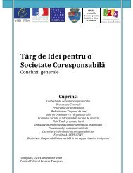 Târg de Idei pentru o Societate Coresponsabilă - Timisoara-Teritoriu ...