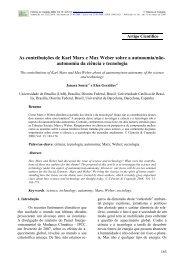As contribuições de Karl Marx e Max Weber sobre a autonomia/não ...