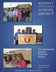 2012 Audit Report - Kennett Consolidated School District