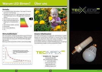 Warum LED Birnen? - Tecleds
