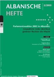 Albanische Hefte -2-2005 - PDF - Deutsch-Albanische ...