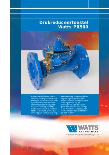 Drukreduceertoestel Watts PR500 - Watts Industries Netherlands B.V.