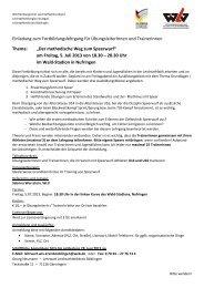 Der methodische Weg zum Speerwurf - Leichtathletik Region Stuttgart