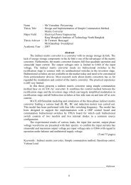 ii Name : Mr.Veeradate Piriyawong Thesis Title : Design and ...