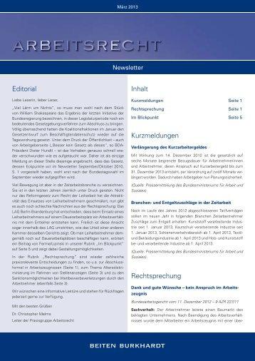BEITEN_BURKHARDT_NL_Arbeitsrecht_Mrz13 - Management ...