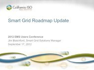 A CAISO Smart Grid Roadmap Update - EMS Users Conference