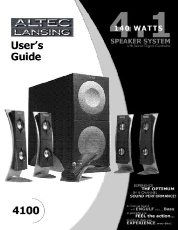 Altec Lansing 4.1 Speaker System with Wired Digital Controller ...