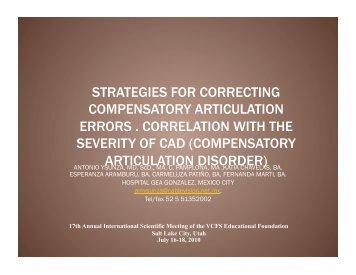 The use of strategies for treating compensatory articulation errors in ...
