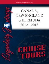 canada, new england & bermuda 2012 - 2013 - Legendary Journeys