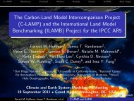 (C-LAMP) and the International Land Model Benchmarking (ILAMB)