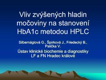 Vliv zvýšených hladin močoviny na stanovení HbA1c metodou
