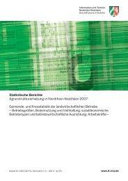 Agrarstrukturerhebung in Nordrhein-Westfalen 2007 Gemeinde- und ...