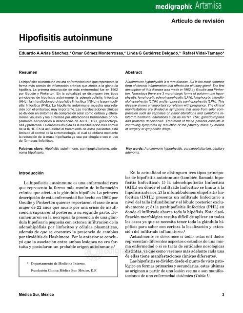 Hipofisitis autoinmune