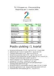 1. kvartal 2004 - Tv2