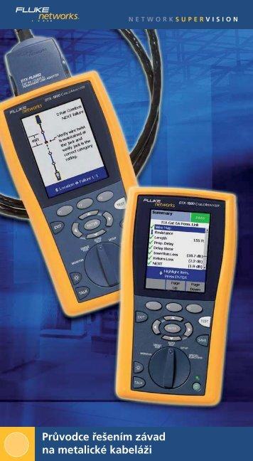 Průvodce řešením závad na metalické kabeláži - Fluke testery