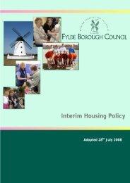 Interim Housing Policy - Fylde Borough Council
