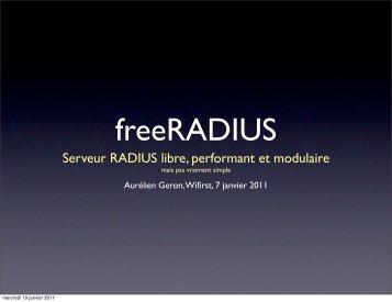 Présentation de RADIUS, EAP et FreeRADIUS - 5ème partie
