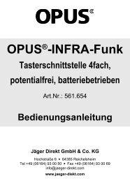 Tasterschnittstelle 4-fach, potentialfrei (Art.-Nr ... - OPUS Schalter