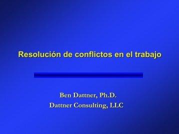 Resolución de conflictos en el trabajo - Dattner Consulting