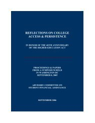 REFLECTIONS ON COLLEGE ACCESS & PERSISTENCE - CiteSeerX