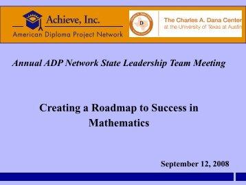 Creating a Roadmap to Success in Mathematics - Achieve