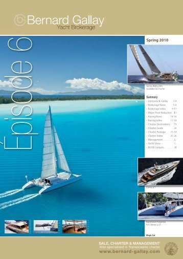 download (pdf) - Bernard Gallay Yacht Brokerage