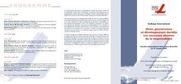 Programme du colloque - FGF