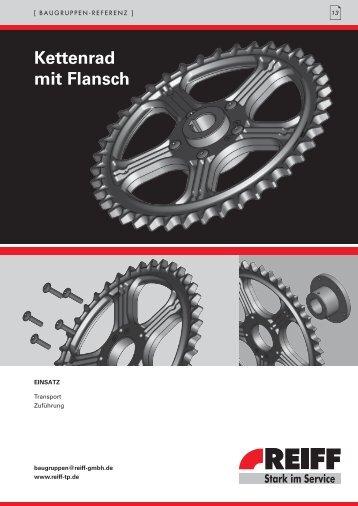 Kettenrad mit Flansch - REIFF Technische Produkte