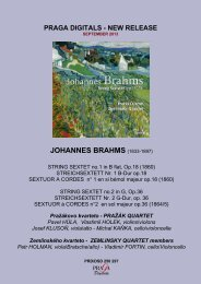 BRAHMS Sextets Opp 18, 36 PrazakQ - ZemlinskyQ ... - Pragadigitals