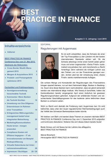 eMagazin BEST PRACTICE IN FINANCE