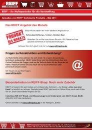 Besonderheiten im REIFF-Shop - REIFF Technische Produkte