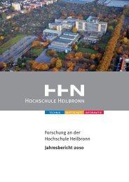 Jahresbericht 2010_final - Hochschule Heilbronn