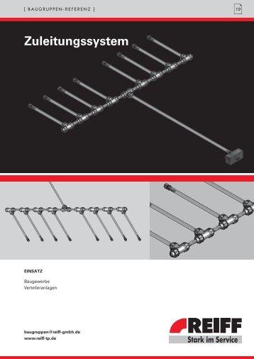 zuleitungssystem - REIFF Technische Produkte