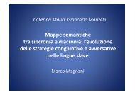 l'evoluzione delle strategie congiuntive e avversative delle strategie ...