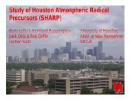 Study of Houston Atmospheric Radical Precursors (SHARP)