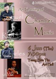 An Evening of Chamber Music