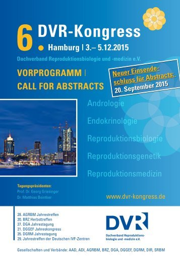 6. DVR Kongress Vorprogramm