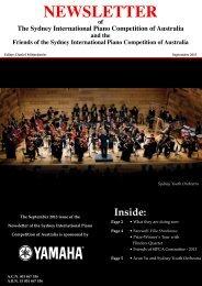 September 2013 Newsletter - The Sydney International Piano ...