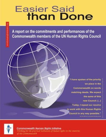 Easier Said than Done - Commonwealth Human Rights Initiative