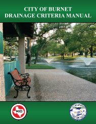 Burnet Drainage Criteria Manual - the City of Burnet Texas