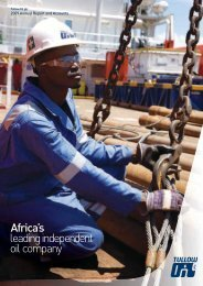 Download the 2009 Annual Report and Accounts PDF - Tullow Oil plc