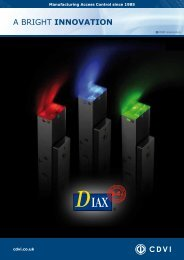 S-Series Datasheet - CDVI