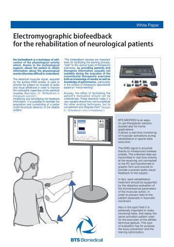 Electromyographic biofeedback for the rehabilitation of ... - Bts.it